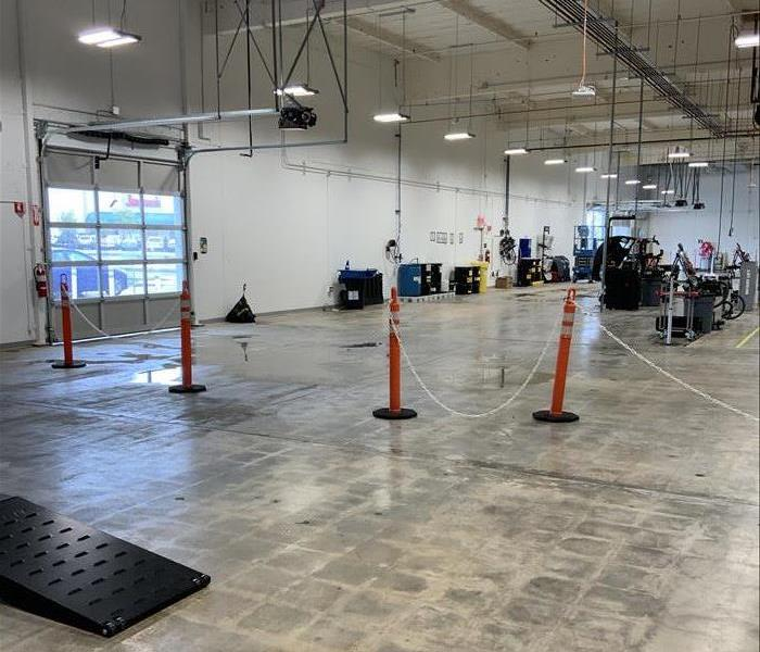 Large facility with water leaks over floor