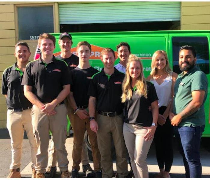 SERVPRO of San Diego East Team posing for a group photo