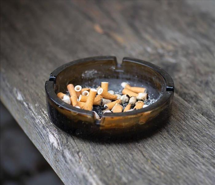 cigarettes in ash trays